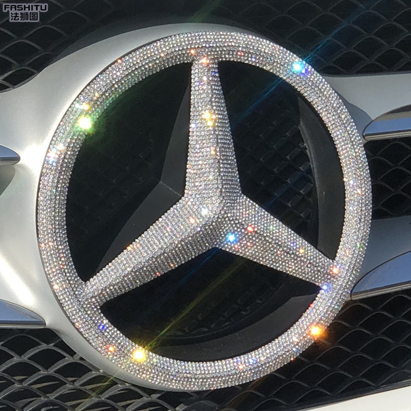 Bling One-piece Easy To Install Mercedes Benz LOGO Decal