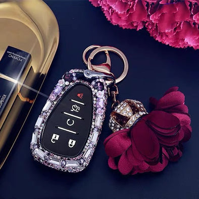 Chevy Bling Car Key Holder with Rhinestones