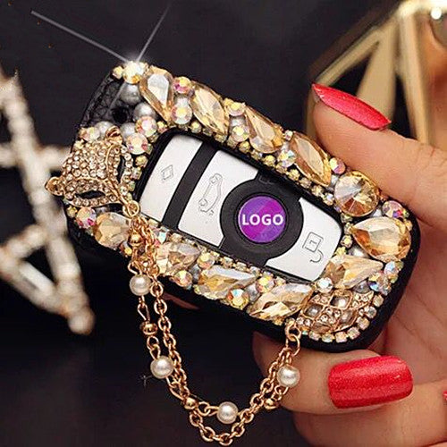 Bling Car Key Holder with Rhinestones for BMW