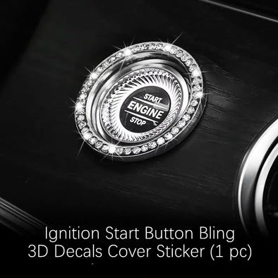 Mercedes Benz New E-Class AMG Bling 3d Rhinestones Interior Acessories Decoration Decal Stickers