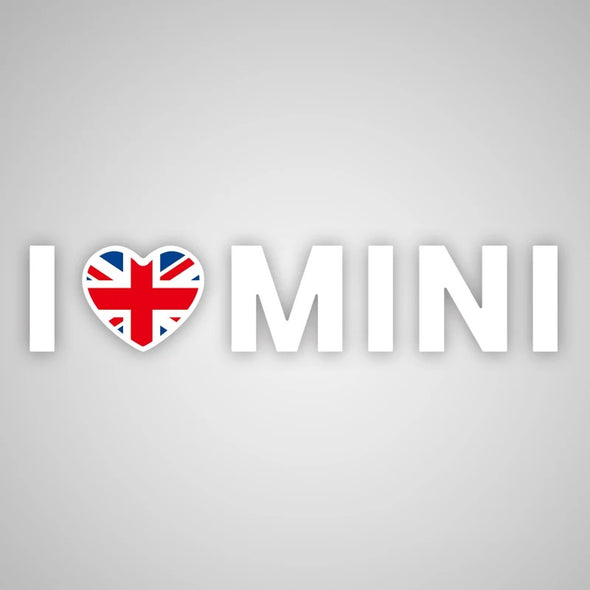 I love Mini sticker for Mini Cooper -Jack Union Checker Rainbow 8 Patterns