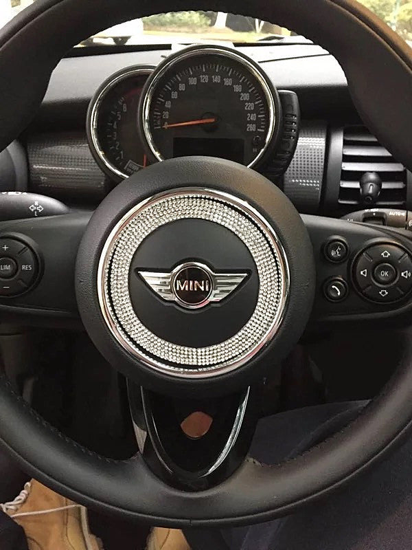 bling steering wheel sticker for mini cooper countryman clubman f55 f5 carsoda. Black Bedroom Furniture Sets. Home Design Ideas