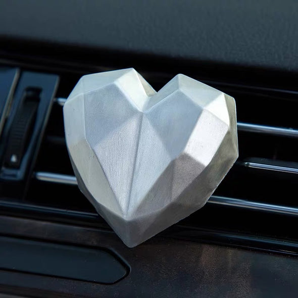 Scented Heart Shaped Car Air Vent Decoration -Red Pink Black Silver