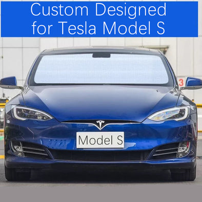Windshield UV Sunshade Custom Designed for Tesla Model S