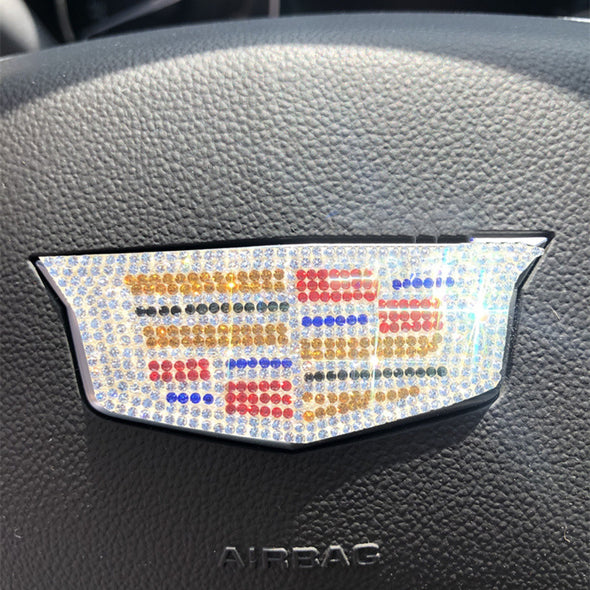 Cadillac Bling Steering Wheel Sticker Emblem Decal