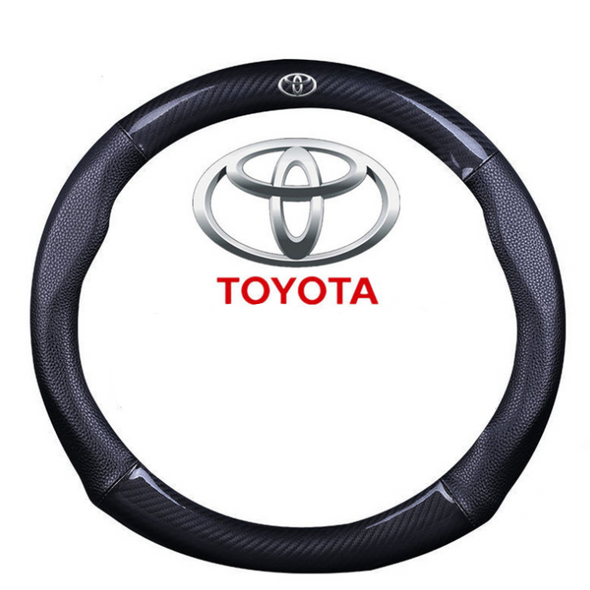 Carbon Fiber and Leather Steering wheel cover for TOYOTA