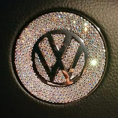 Bling VW Volkswagen Emblem for Steering Wheel LOGO Sticker Decal Beetle