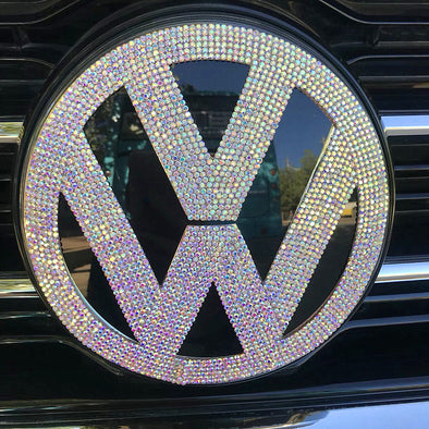 VW Volkswagen Bling LOGO Front or Rear Grille Emblem Made w/ Rhinestone Crystals