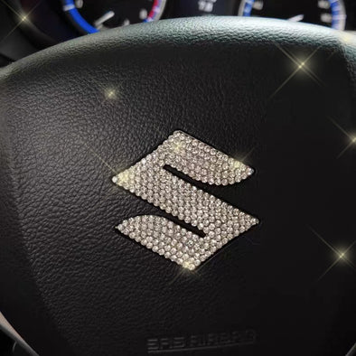 Bling Suzuki Emblem Decal for Steering Wheel LOGO Sticker