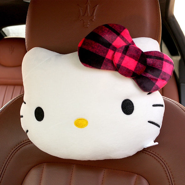 Kitty Bow Shaped Car Headrest Pillow - Cute and girly (2 Pieces)