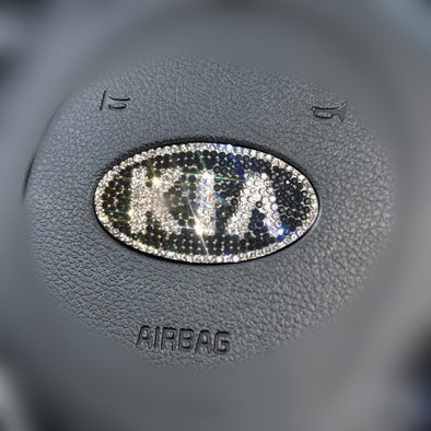 KIA Bling Emblem for Steering Wheel LOGO Sticker Decal