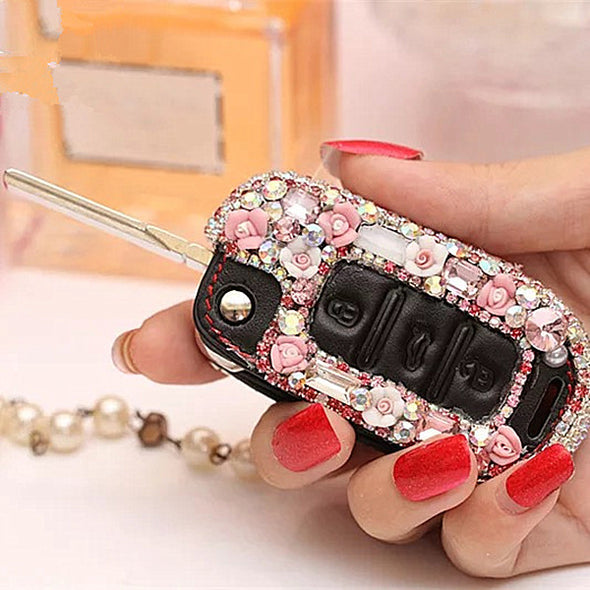 Bling Car Key Holder with Rhinestones for POLO, passart and other VW vehicles - Carsoda - 1