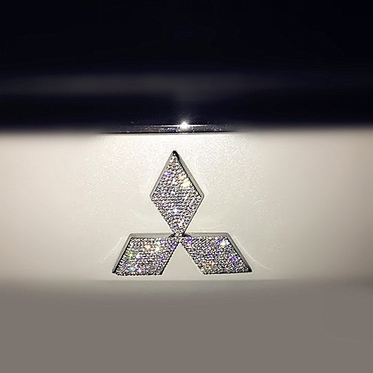Bling Mitsubishi LOGO Front or Rear Grille Emblem Rhinestone Crystals