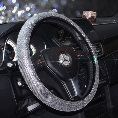 Bling Bedazzled Steering Wheel Cover with Rhinestones