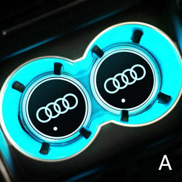 AUDI LED illuminating Cup Coaster (USB charged- 7 colors changing)