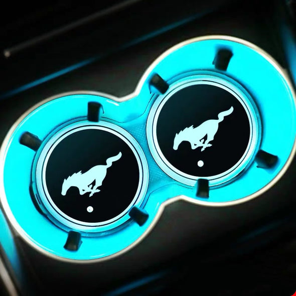 Ford Mustang LED illuminating Cup Coaster (USB charged)