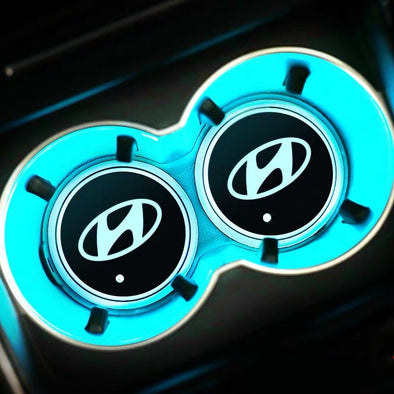 Hyundai LED illuminating Cup Coaster (USB charged- 7color changing)