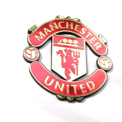 3D Chrome Metal Manchester United Car Decal Sticker
