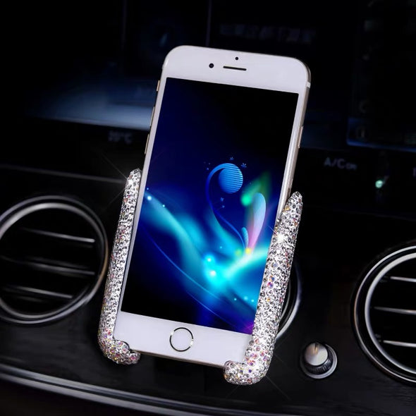 Bedazzled Bling Car Air vent Cell Phone Holder Pink/Silver/Purple/Red