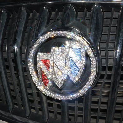 Bling Buick LOGO Front or Rear Grille Emblem Decals with Rhinestone Crystals