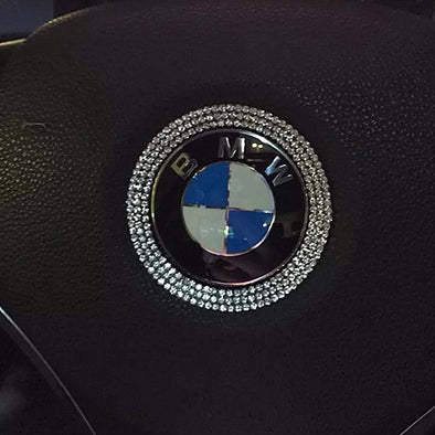 BMW Bling Steering Wheel LOGO Sticker Decal