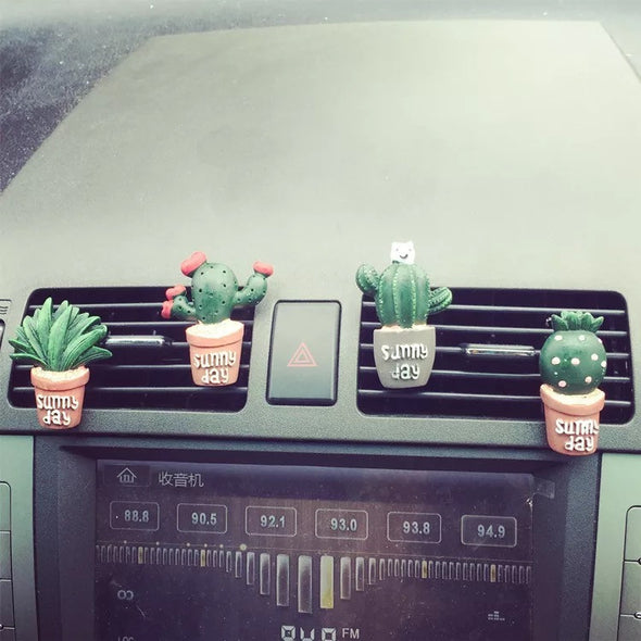 Cactus Car Air Vent Decoration - set of 4. - Carsoda - 1