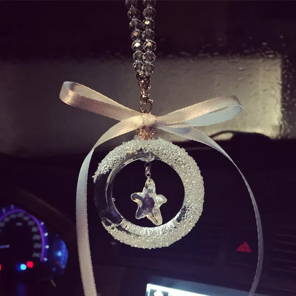 Bling Car Charm - Crystal Star for Rearview Mirror Pendant - Carsoda - 1
