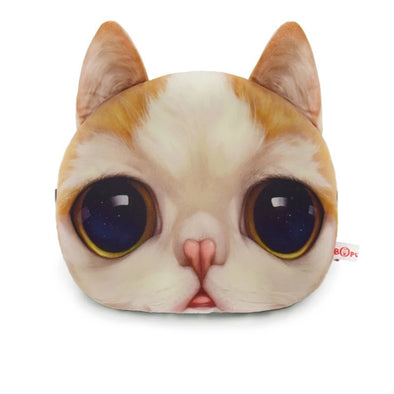 Cat Meow Headrest Pillow- Yellow Kitty