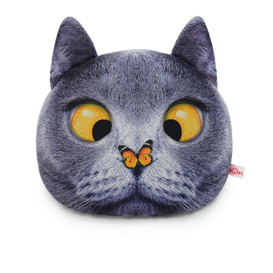 Cat Meow Headrest Pillow- butterfly nose