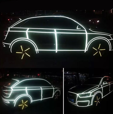 Fluorescent Neon  Car 3M Tape DIY Decor - Carsoda - 1