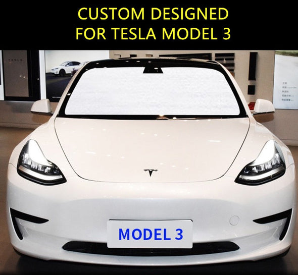 Windshield UV Sunshade Custom Designed for Tesla Model 3