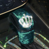 Emerald Car Steering wheel cover, seat belt cover, Hand Brake & Gear Shift Cover with bling Crown