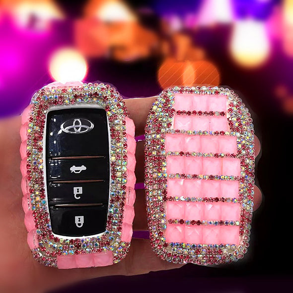Bling Car Key Holder with Rhinestones for TOYOTA - Carsoda - 1