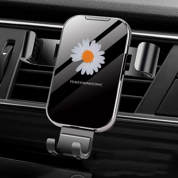 Daisy Flower Bling Car Air vent Cell Phone Holder -Cute Floral Design
