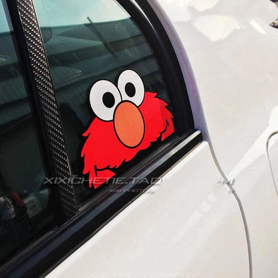 Funny Car Decal Peeking Elmo sticker