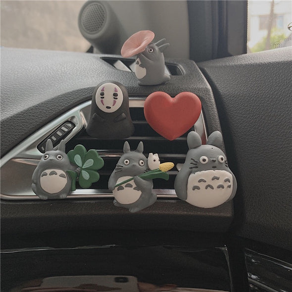 Handmade Plaster Spirited Away Haku kaonashi Totoro Car Air Vent Decoration with Freshener