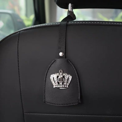 Car Seat Hooks Hanger with Bling Crown