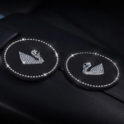 Bling Cup and Gap Coaster with Swan (1 pair)