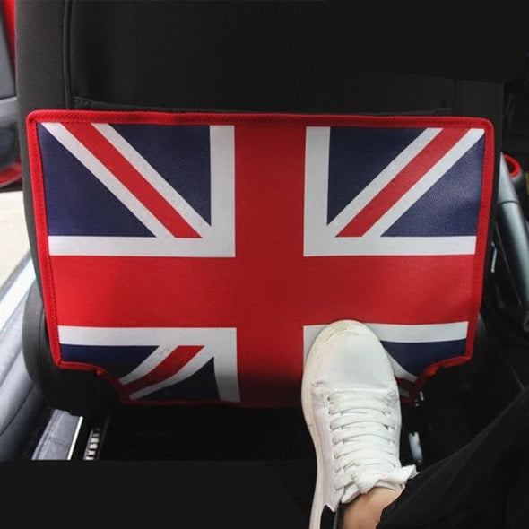 British Jack Flag Car Seat Back Anti-kick Mat for Mini cooper - Carsoda - 1