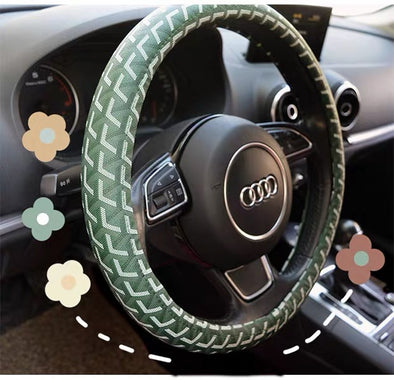 Boho pattern Cotton Steering wheel cover