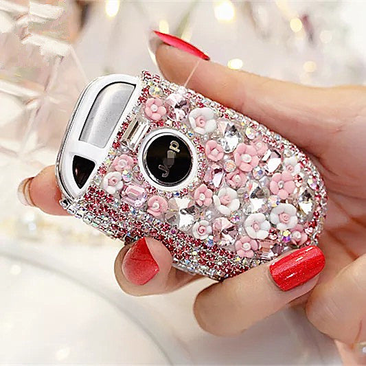 Bling Bedazzled JEEP Dodge Key FOB Cover with Rhinestones- Pink for Ch – Carsoda