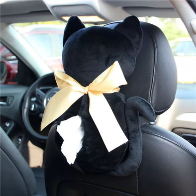 Cat Shape Car Seat Back Center Console Tissue Box -Great gift for cat lovers