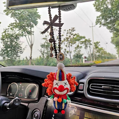 Joker Car Charm Pendant - HANDMADE  lucky Charm for Rearview Mirror