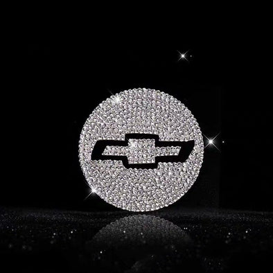 Bling Chevy LOGO Stickers for Tire wheel Center Caps Emblem Decal Made w/ Rhinestone Crystals