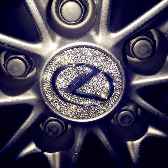 Bling Lexus LOGO Stickers for Tire wheel Center Caps Emblem Decal Made w/ Rhinestone Crystals