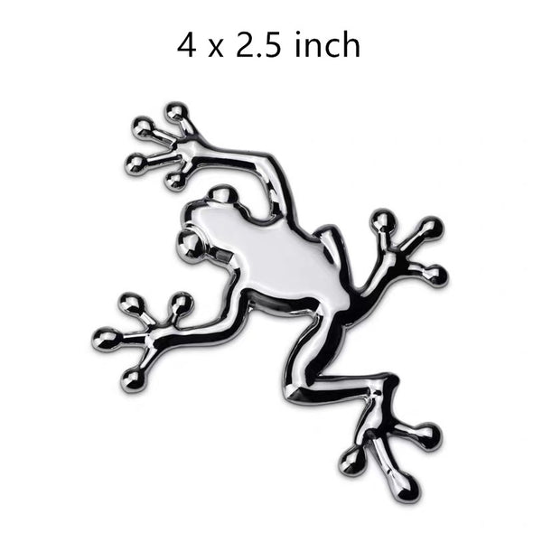 Frog 3D metal Chrome Emblem Badge Decal