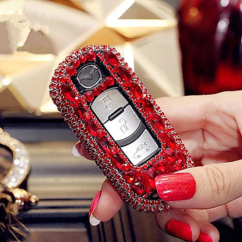 Red MAZDA Bling Car Key Holder with Rhinestones cx5 cx-7 cx-9 cx-4