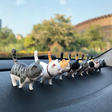 Dashboard Cute Cat Kitten Small Figures Car Decoration (9x)