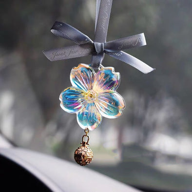 Car Mirror Charm Ornaments-Hanging Cherry Sakura Rear View Mirror Pendant