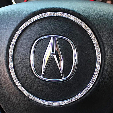 Bling Acura CDX Steering Wheel Sticker Ring Rhinestones